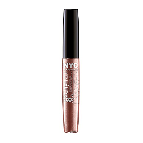 - N.Y.C. New York Color 8 HR City Proof Extended Wear Lip Gloss, Gold with Me, 0.22 Fluid Ounce