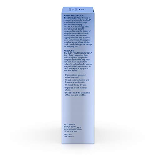 31652e73bZL - RoC Multi Correxion 5 In 1 Anti-Aging Daily Face Moisturizer with Broad Spectrum SPF 30, anti-wrinkle Cream for Skin Discoloration, Elasticity, and Firmness, 1.7 fl. oz