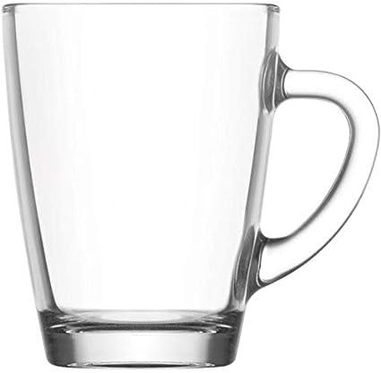 6 Kaffeegläser 300ml mit Henkel B-Ware Kaffeebecher Teegläser Latte Macchiato
