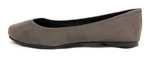 Flat Toe Kreme Charcoal Gel Soda Women Insole Round Comfortable Ballet Basic Shoes CCwxqF0X