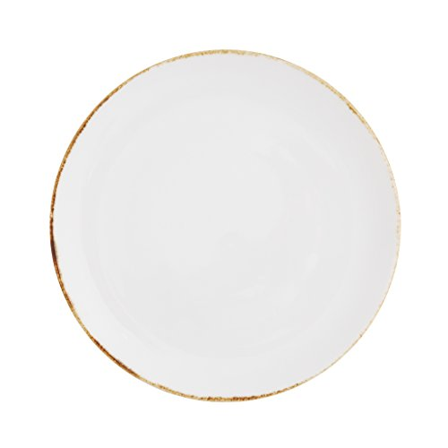 Gold Coupe Dinner Plate - 2