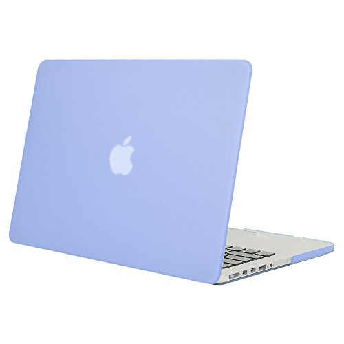 MOSISO Plastic Hard Shell Case Cover Only Compatible [Previous Generation] MacBook Pro (No USB-C) Retina 15 Inch (Model: A1398) (No CD-ROM), Serenity Blue