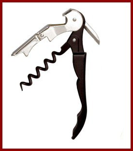 Pulltap's Professional Double-hinged Waiter's Corkscrew with Pulltap's Logo.