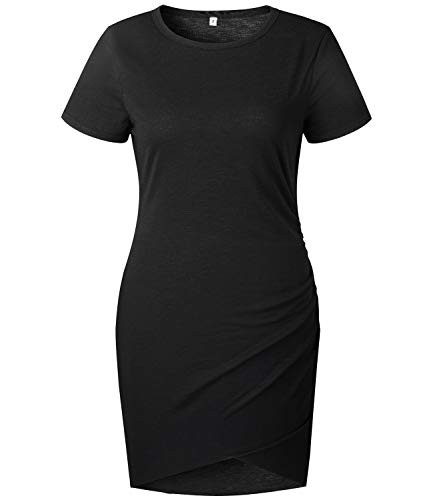 Mansy Womens Summer Sexy Cocktail Party Dress Short Sleeve Mini Dresses ()
