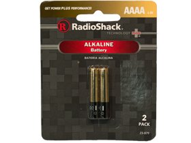 AAAA Radio Shack Alkaline Battery 2 Pack, Quantity of 24
