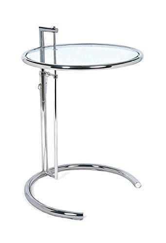 Mesa elevable Auxiliar Cristal Cromada 57x62 cm: Amazon.es: Hogar