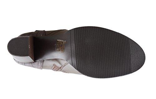 tacon forro Dark tobillo apilados Botines Eyekepper franela Brown de Women de Belted lateral grueso 's Fashion cremallera tB81q
