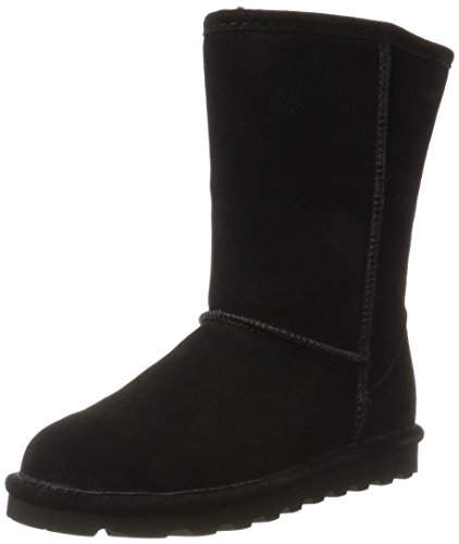 BEARPAW Women's Elle Short Winter Boot, Black, 9 M US