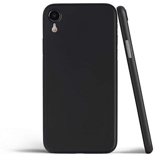 (iPhone XR Soft Silicon Case (Jet Black)  Shock Absorbent   Ultra Slim Design   Precision Cut   Premium Grade Material   Premium Clear Case)