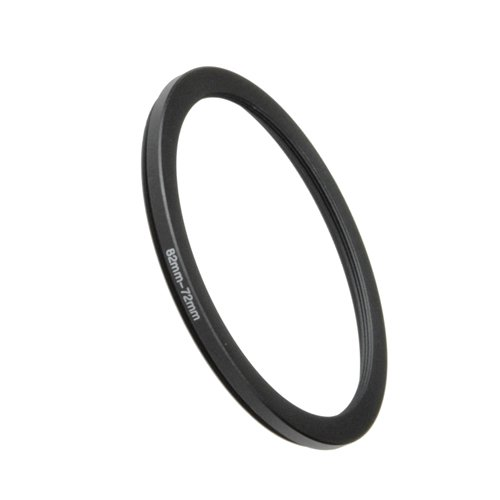 Fotodiox Metal Step Down Ring Filter Adapter, Anodized Black Aluminum 82mm-72mm, 82-72 mm 72mm Step Down Ring
