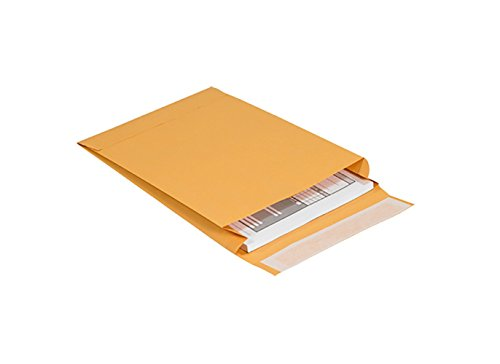 "RetailSource E131002ES1 Expandable Self-Seal Envelopes, 13"" x 10"" x 2"", Brown"