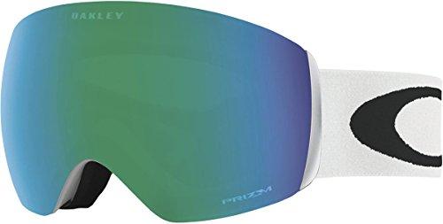 Oakley Flight Deck Asian Fit Snow Goggles, Polished White Frame, Prizm Jade Iridium Lens, - Oakley Asian Fit Womens