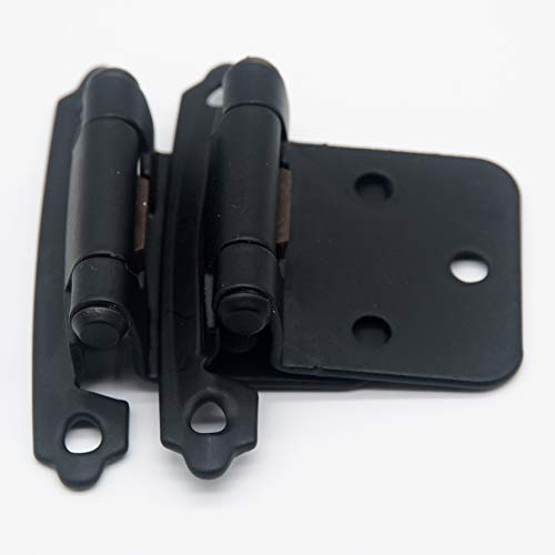 Cabinet Hinges, Overlay(NOT Inset), Variable, Self Closed, Silver Moon Hardware (25 Pairs Black)