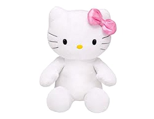Build a Bear Hello Kitty Pink Shimmery Bow Large White 18 in. Stuffed Plush HK Sanrio Toy - Hello Kitty Bow Pink With
