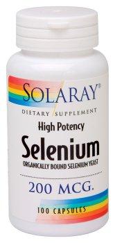 Solaray - Sélénium, 200 mcg, 100 capsules