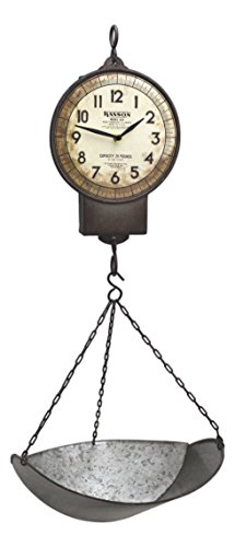 "Park Hill 30"" Faux Market Scale Primitive Home Decor Hanging Clock 3"