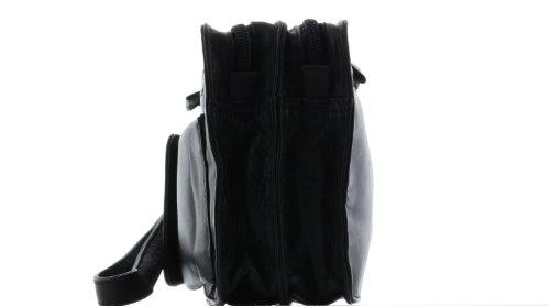 Piel meid handgelenktasche N2–Negro