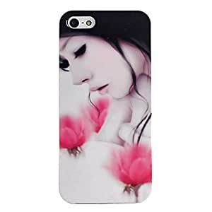 ZXM-Patrón de la caja del gel rosa niña TPU para el iphone 5/5s