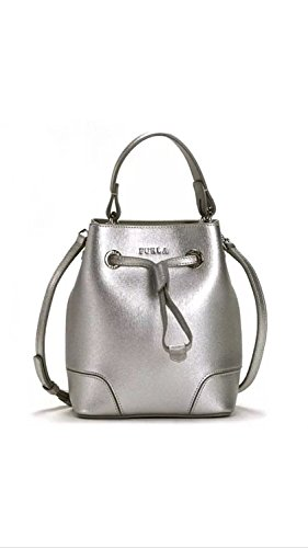 Handbag Crossbody Drawstring Mini Silver Stacy Furla ABwUZZ