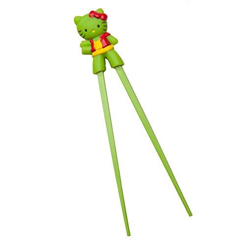 Princess Bubblegum Outfits (Fun Design Boys Girls Children Training Chopsticks with Characters (Hello Kitty, Green))