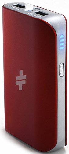 Swiss Mobility Universal Power Pack 6000mAh for iOS, Android & USB Devices, Red