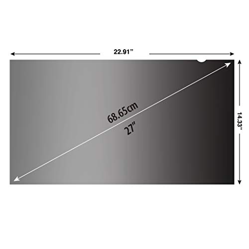 KAEMPFER 27 inch(Diagonally Measured) 16:10 Aspect Ratio Privacy Screen Protector Filter Widescreen Computer Monitor (22.9'' x 14.3'' / 582 x 364mm) Please Measure Carefully by KAEMPFER (Image #2)