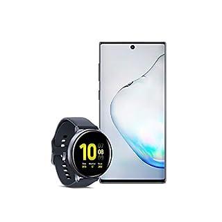 Samsung Galaxy Note 10 Factory Unlocked Cell Phone with 256GB (U.S. Warranty), Aura Black/ Note10 w/Samsung Galaxy Watch Active2 (44mm), Aqua Black - US Version with Warranty