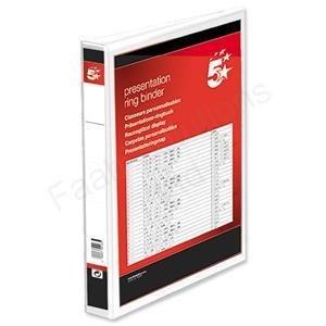 5 Star 933012 - Paquete de 10 archivadores con anillas A4, blanco: Amazon.es: Oficina y papelería
