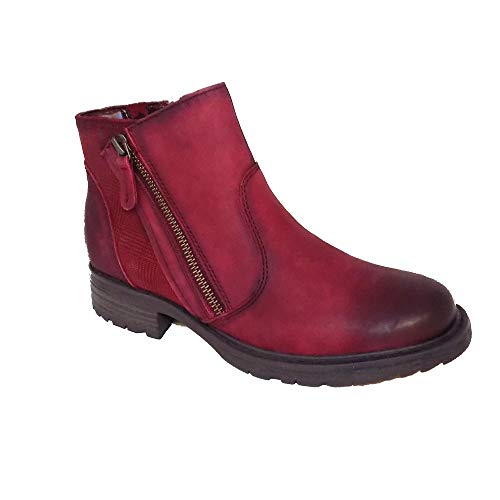 Zip Vintage Earth Womens Full Ankle Wine Boots Jordan qHtOanH8