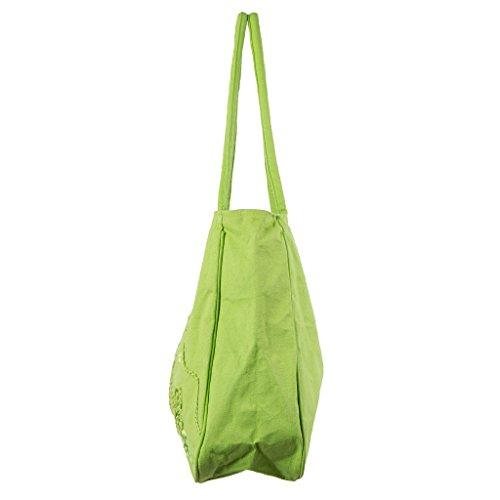 LOLA CASADEMUNT Damen Strandtasche grün