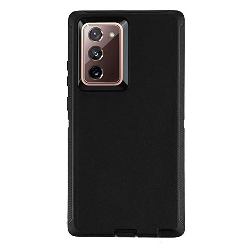 smartelf Case for Samsung Galaxy Note 20 Ultra Heavy Duty Shockproof Drop Protection Dual Layer Protective Cover for Galaxy Note 20 Ultra,No Screen Protector-Black