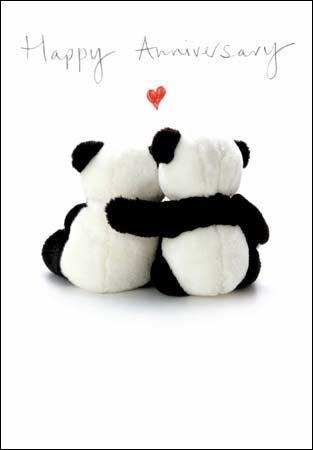/Good Together Carte Joyeux Anniversaire wdm3108 deux Pandas/