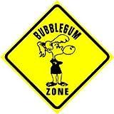 BUBBLEGUM ZONE chewing gum bubble NEW sign