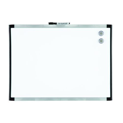 Quartet Magnetic Dry-Erase Board, 17 x 23 Inches, Black Frame (21-580643Q-BK) by Quartet