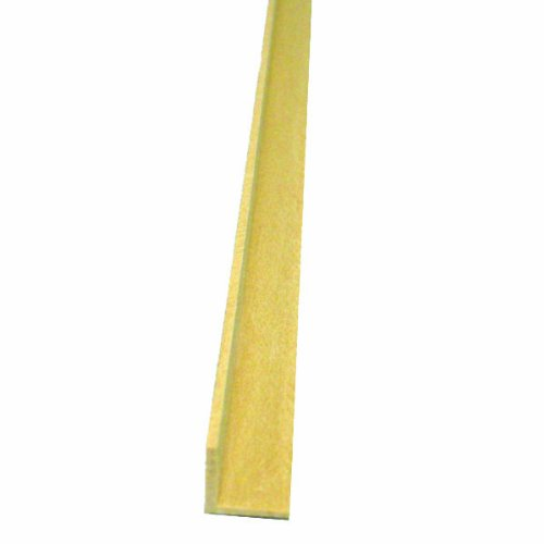 Midwest Products 4463 Scale Lumber Basswood 24 Inch Corner Angle Miniature Moldings, 0.375x0.375 (Scale Corner)