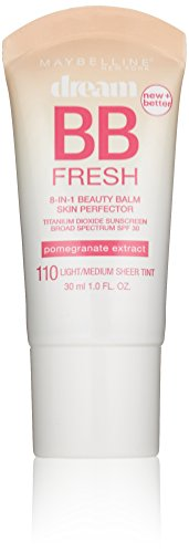Maybelline New York Dream Fresh BB Cream, Light/Medium, 1 Fluid Ounce (Packaging may vary)