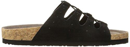 Skechers Granola Wrap It Up Slide Sandal Black Suede