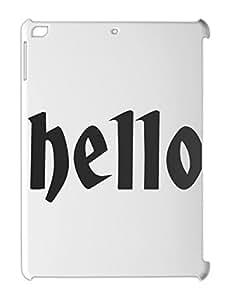 hello iPad air plastic case