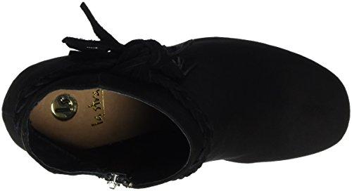 La Strada 910730, Zapatillas de Estar por Casa para Mujer Negro
