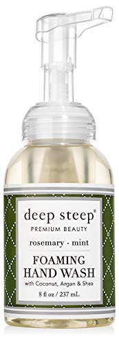 Deep Steep Foaming Hand Wash, Rosemary Mint, 8 Ounce
