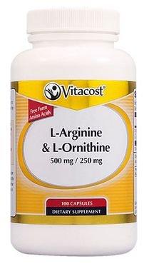 Vitacost L-Arginine & L-Ornithine 500 mg/250 mg -- 100 Capsules