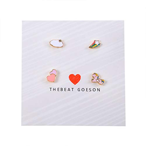 Bravetoshop 6 Pairs Earrings for Women Fashion Clearance Assorted Stainless Steel Stud Earrings Ladies Jewelry Set for Girls Gifts