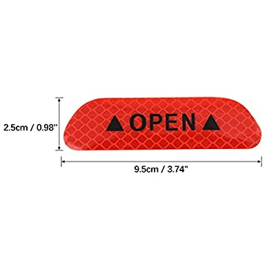 X AUTOHAUX Car Reflective Stickers Night Visibility Warning Reflective Door Open Sign Tape Universal Adhesive for Auto 9.5 x 2.5cm Red 12pcs: Automotive