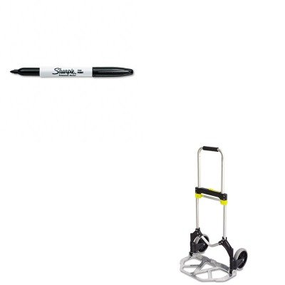 KITSAF4062SAN30001 - Value Kit - Safco Stow-Away Medium Hand Truck (SAF4062) and Sharpie Permanent Marker (SAN30001)