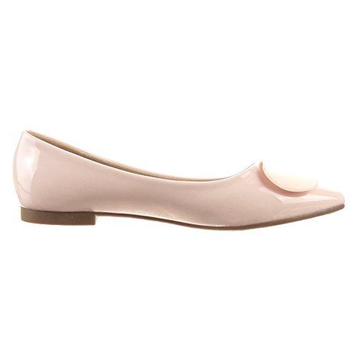 Ballerina Lucido Rosa Modo Centimetro Sopily Caviglia 1 Brevetto Scarpa Tacco Donne dxFvw7qa