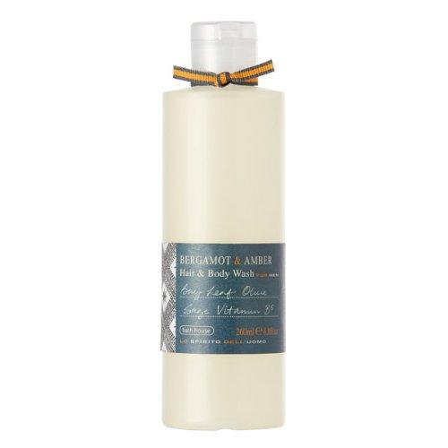 Bath House Bergamot & Amber Hair and Body Wash for Men 260ml