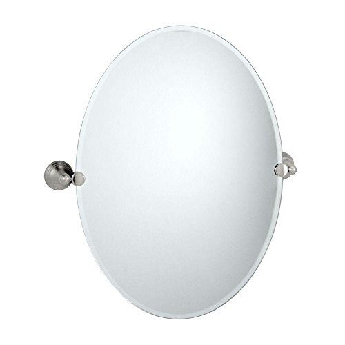 Gatco 4369 Charlotte Oval Wall Mirror, Satin Nickel