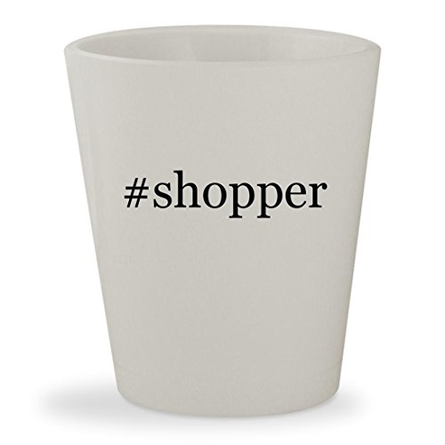 #shopper - White Hashtag Ceramic 1.5oz Shot (Maxi Shopper Bag)