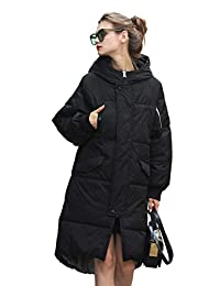 you.u Holiday Deals Women Water/Stain Resistant Anorak Winter Long Quilted Coat