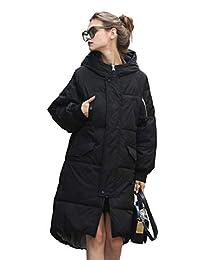 you.u Women Waterproof Stain-Resistant Anorak Winter Long Quilted Coat